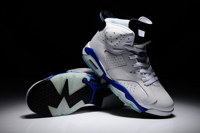 AIR JORDAN 6 Sport Blue Shoes White/blue